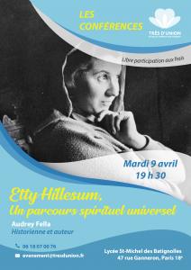 """Conférence d'Audrey Fella """"Etty Hillesum, un parcours spirituel universel"""" @ Lycée Saint-Michel des Batignolles"""